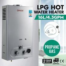 16 л Пропан Газ LPG цифровой контроль нагреватель горячей воды