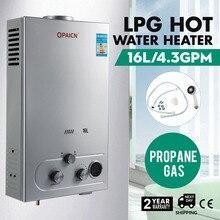 16L Propane Gas LPG Digital Control Hot Water Heater