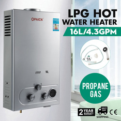 16L Propane Gas LPG Digital Control Hot Water Heater