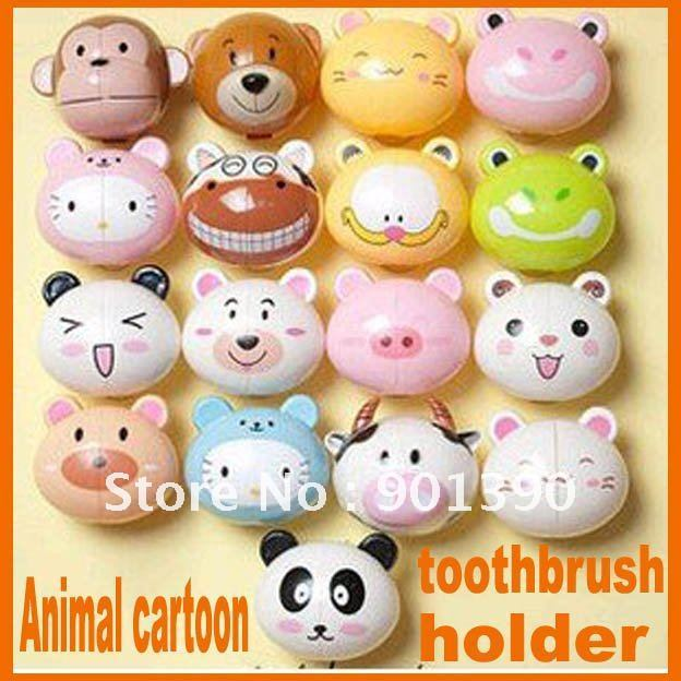 FreeShipping wholesale free shipping Animal cartoon toothbrush holder toothbrush rack portable suction toothbrush holder