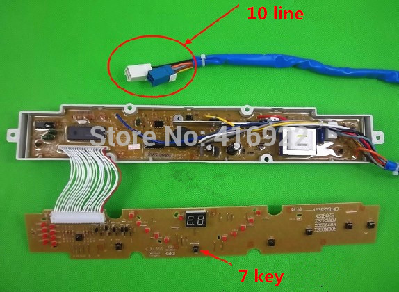 Free shipping 100% tested for Sanyo washing machine board xqb60-s808 circuit board control board motherboard on sale free shipping 100%tested for mitsubishi washing machine board ncxq qs07 2j n qs07 2 control board on sale