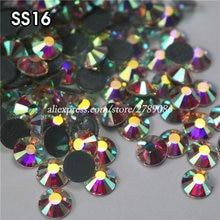 Здесь можно купить   1440pcs/lot SS16 AB High Quality Flatback Strass Stones Hot Fix Crystal Iron On Hotfix Rhinestone For Clothing Accessories Arts,Crafts & Sewing