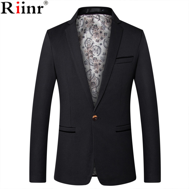 Riinr Mens Fashion Brand Blazer British's Style Casual Slim Fit Suit Jacket Male Blazers Men Coat Terno Masculino Plus Size 5XL