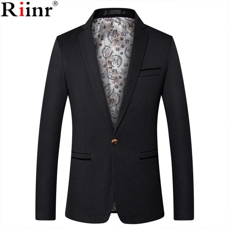 Riinr Mens Marca de Moda's Estilo Britânico Blazer Casual Terno Slim Fit Blazers Homens Casaco Jaqueta Masculina Terno Masculino Plus Size tamanho 5XL