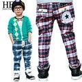 Roupa dos miúdos do bebê meninos calças primavera outono crianças calças cintura elástica calças calças de roupas infantis/crianças calças 2015 novo Hot