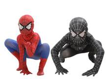 Spider-Man Hitam Racun Anak-anak Dewasa Super Hero Lycra Spiderman Hero Zentai Kostum Halloween dengan Masker(China)