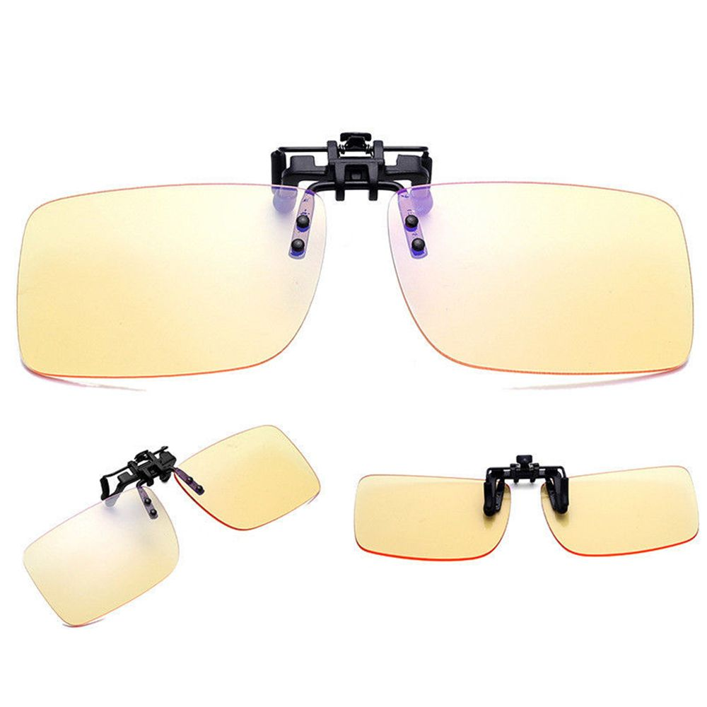 1pair Unisex Sunglasses Clip On Flip Up Driving Glasses Sun UV 400 Protective