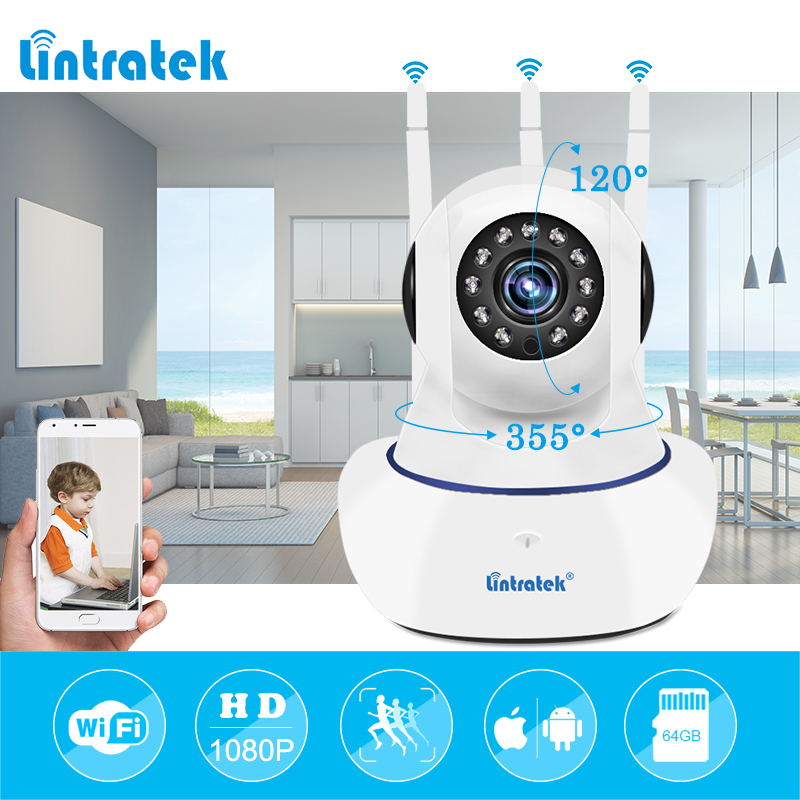 Senza fili di Sicurezza IP di wifi Della Macchina Fotografica 1080 p wi-fi di Video di Sorveglianza P2P mini Camara Onvif Baby Monitor del CCTV di sicurezza Domestica Ipcamera LINTRATEK