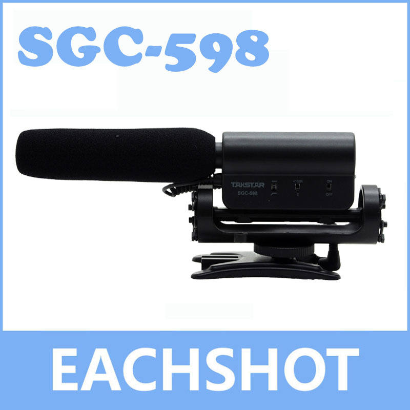 TAKSTAR SGC-598, TAKSTAR SGC-598 Shockproof hotshoe Condenser Recording microphone mic for interview movie pickup for DV DSLR