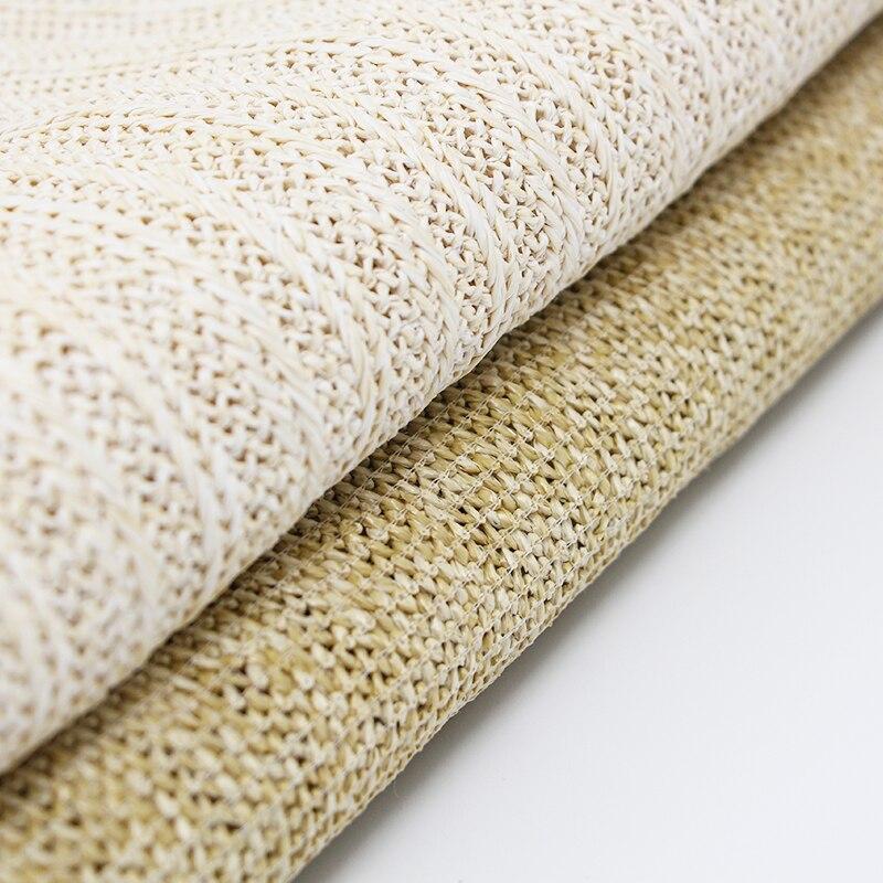 Экологичная плетеная ткань из рафии, дышащая соломенная сумка ручной работы, 45x140 см