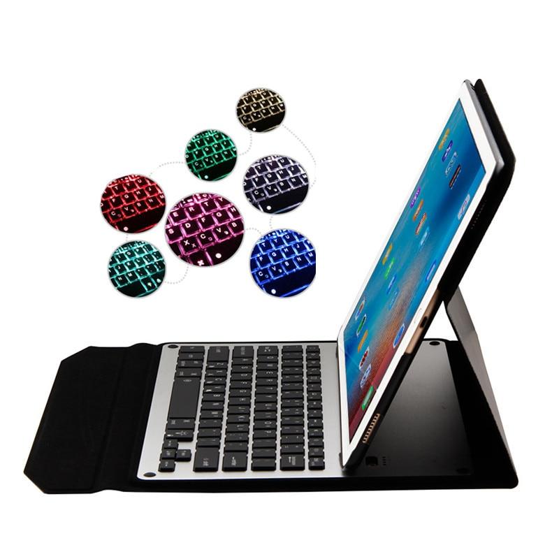 Funda inteligente Ultra fina para iPad Pro 12,9 pulgadas tableta 7 colores retroiluminada inalámbrica Bluetooth teclado de aluminio cubierta Auto dormir + regalo-in Fundas de tabletas y libros electrónicos from Ordenadores y oficina on AliExpress - 11.11_Double 11_Singles' Day 1