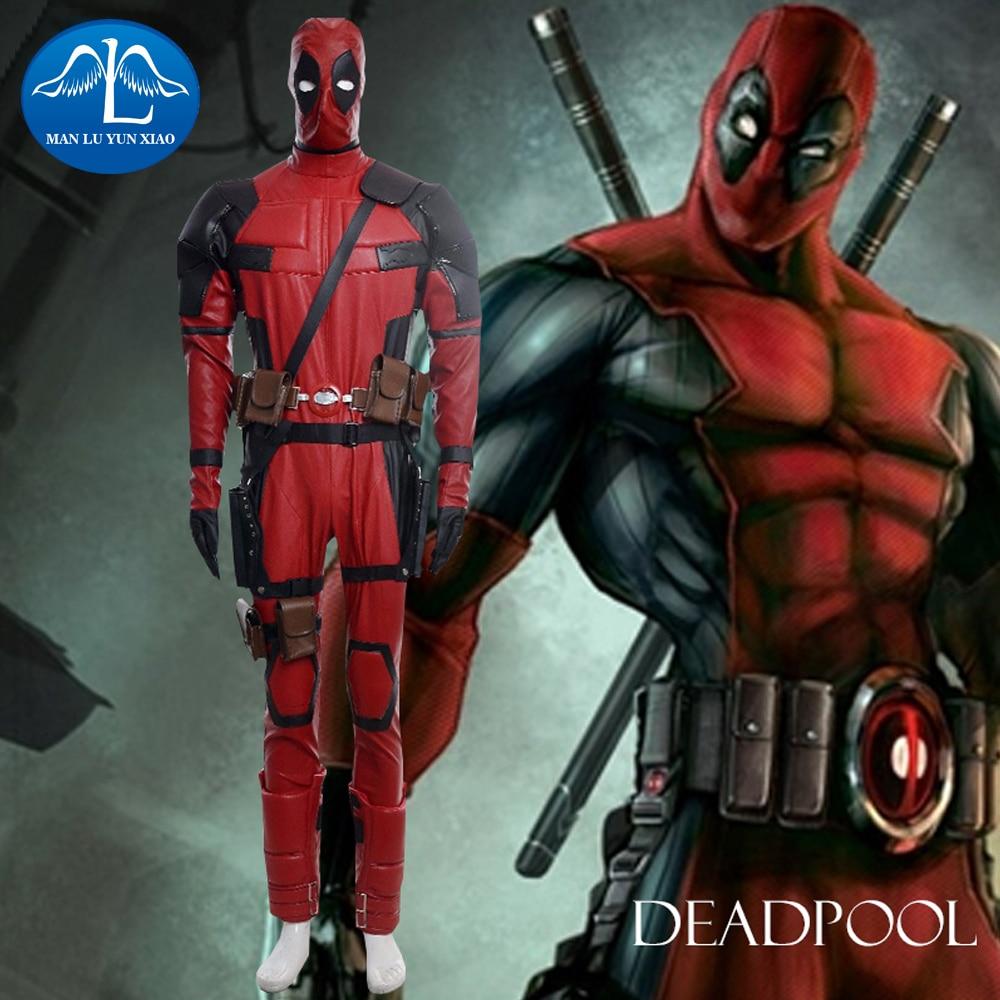 manluyunxiao deadpool costume adult men's jumpsuits halloween