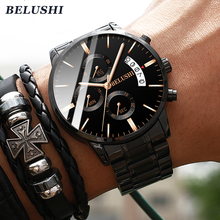 Часы мужские люксовой марки BELUSHI мужские деловые повседневные часы мужские водонепроницаемые спортивные часы