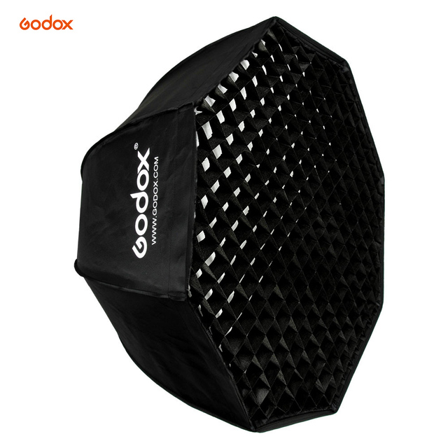 37 Octagon Honeycomb Grid Softbox With Flash Mounting For: Godox SB UE 80cm / 31.5in Bowens Mount Portable Octagon