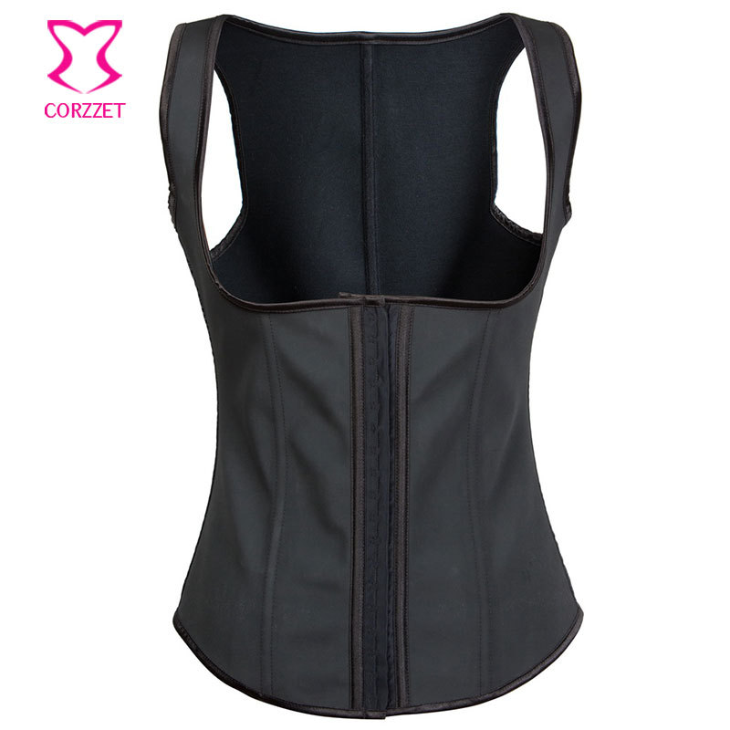 latex waist trainer vest gaine amincissante latex corset plus size steel bone cupless waist. Black Bedroom Furniture Sets. Home Design Ideas