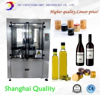 aluminum cap sealing machine,wine bottle capping machine,8 head glass bottle cap screwed machine, rotatory capper CE
