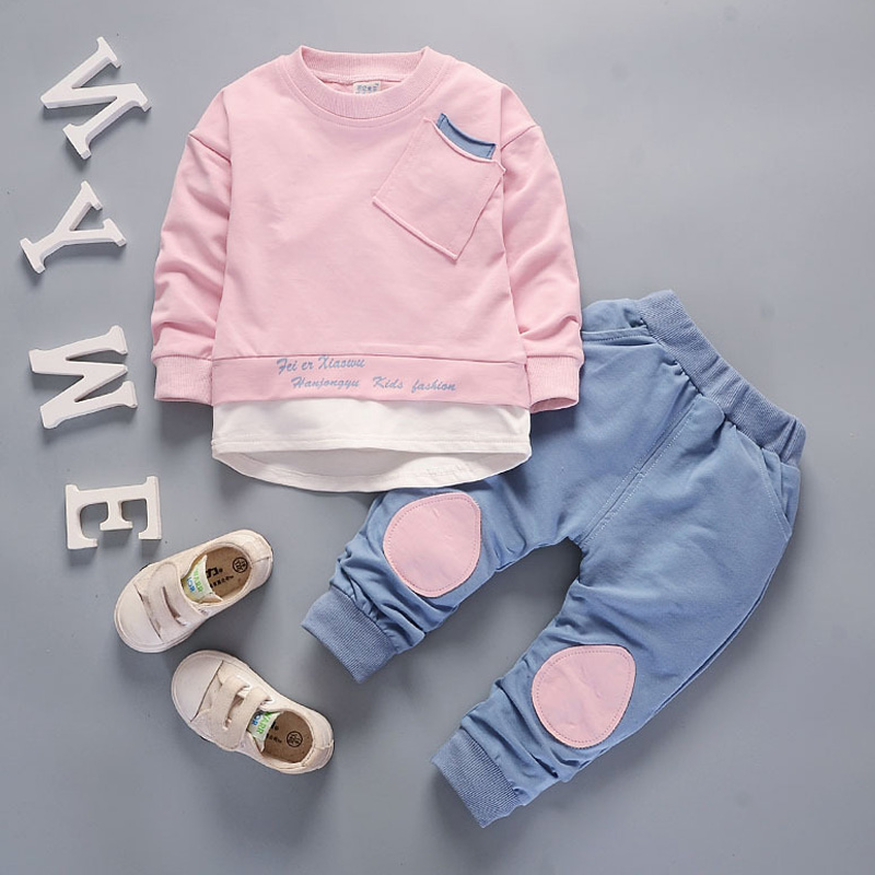 Children clothing set Long Sleeve Shirts Pants two piece baby clothes boy kids tracksuit little girls outfits 1 2 3 4 5 Year in Clothing Sets from Mother Kids