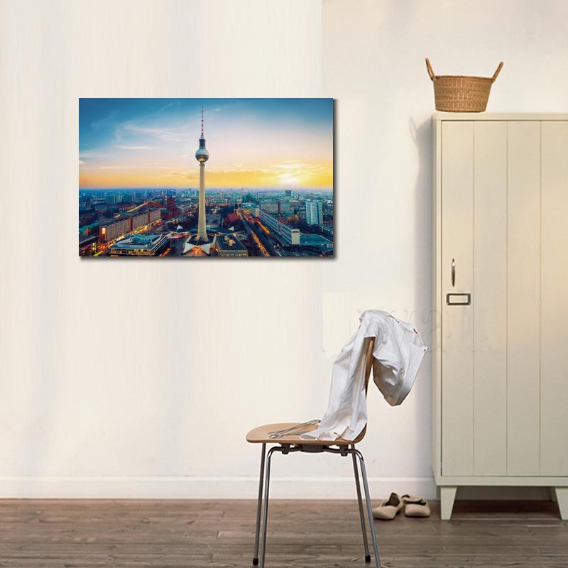 Aliexpress Stadt Fernsehturm Berlin Tv Turm Deutschland Hd Leinwand Druck Dekoration Wohnzimmer Wandbilder Malerei Von Verlsslichen Wall