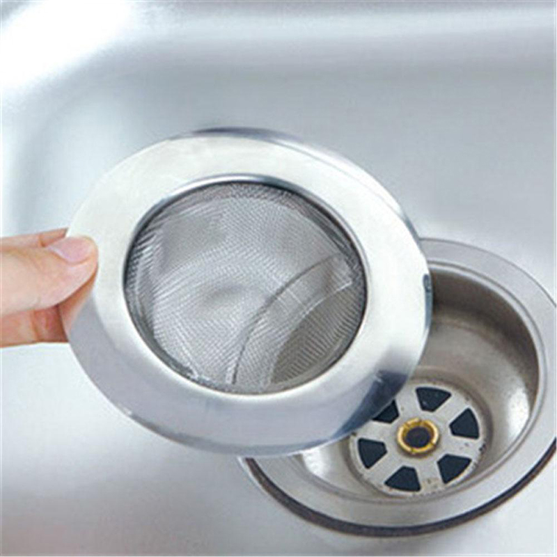 1 Piece Kitchen Sink Strainer Sink Drains Stainless Steel Mesh Cover Hair Filter Stopper