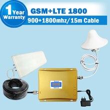 GSM 900 4G LTE 1800 (bande FDD 3) répéteur double bande écran LCD 70dB Gain GSM 900 DCS 1800mhz amplificateur de Signal Mobile cellulaire S48