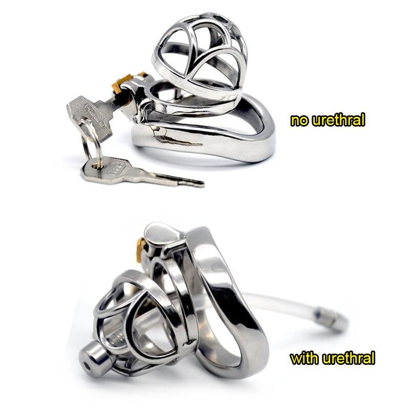 Нержавеющая сталь маленькая клетка для пениса Cb6000s с вилкой для пениса кольцо для пениса замок для пениса Мужской Целомудрие устройство для