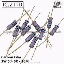 10 pcs 3 3 w 5% W Filme De Carbono Resistor 5% 360 K 390 K 430 K 470 K 510 K 560 K 620 K 680 K 750 K 820 K 910 K 1 M 1.2 M 1.5 M 1.8 M 2 M 2.2 M 2.4 M