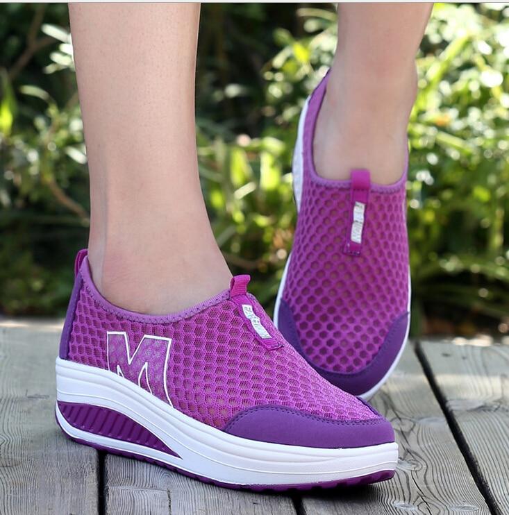 Verano Moda Transpirables Las Para A1 La Altura a3 Malla Zapatos a4 2018 Mujeres Casual Swing a2 De Plataforma a5 Aumento Caminar YCwzqz