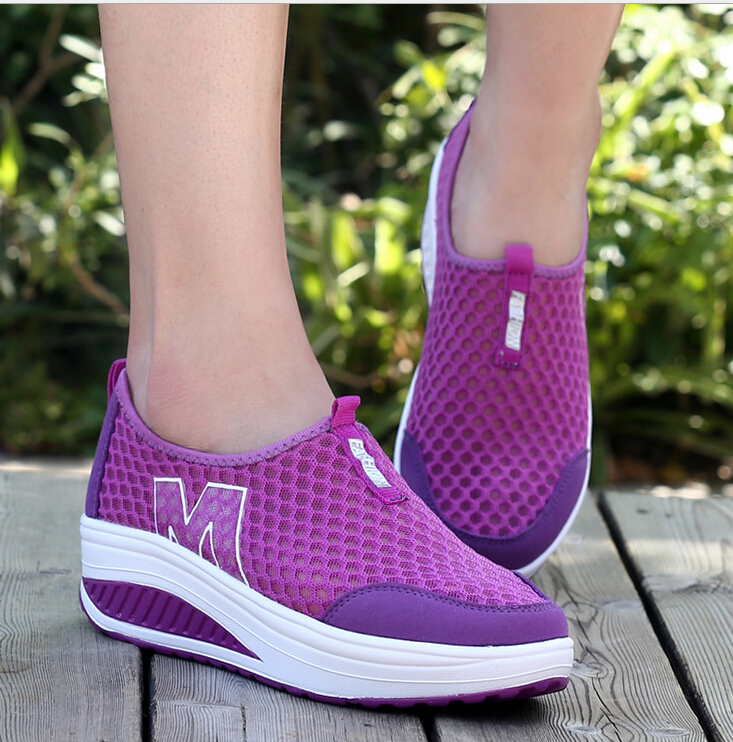 2018Height Increasing Summer mesh Shoes Women's Casual Shoes Fashion Walking Shoes Women Swing Shoes Breathable Platform loafers hosteven women shoes casual sport flats fashion shoes walking spring summer loafers breathable air mesh walking shoes