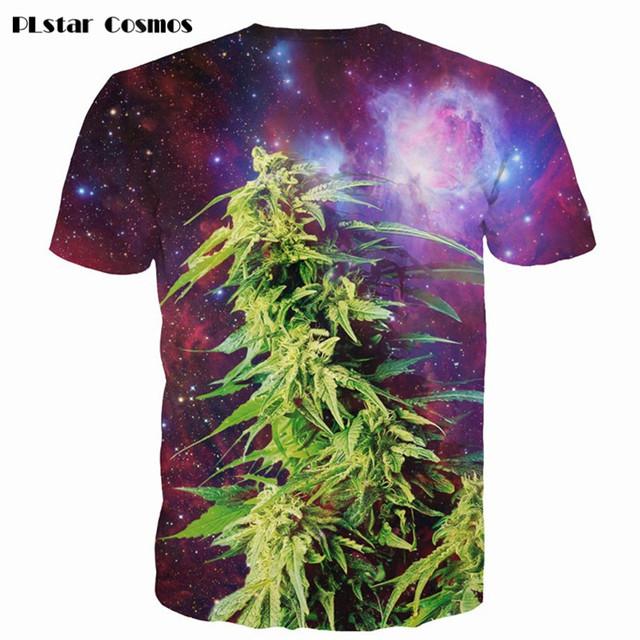 Space Galaxy Weeds 3D t-shirt weed leaf Print