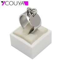 2015 Fashion Unique Design Silver Brand Rings For Men Nobility Party Wedding Dog Pendant Rings Silver