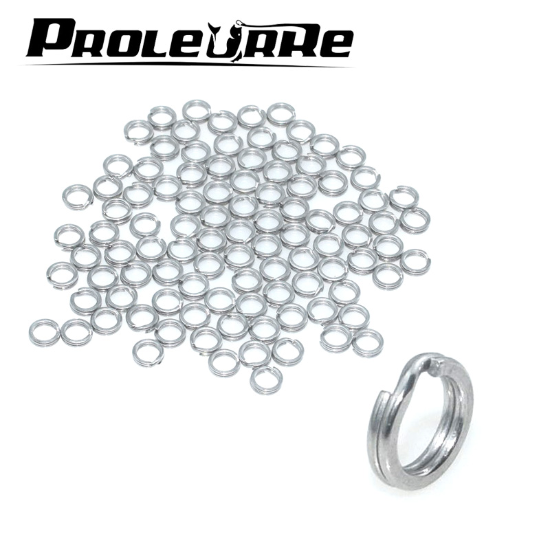 100pcs Fishing Split Lure Solid Rings for Crank Hard Bait Stainless Steel 1#-4# Double Loop Open Carp Tool Fishing Accessories crank pulley tool set crank anti rotation locking tool for jaguar land rover