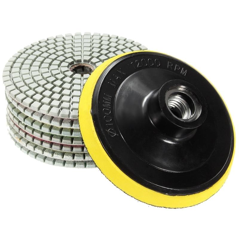 Diamond Polishing Pads 4 Inch Wet Dry Set For Granite Concrete Marble Polishing