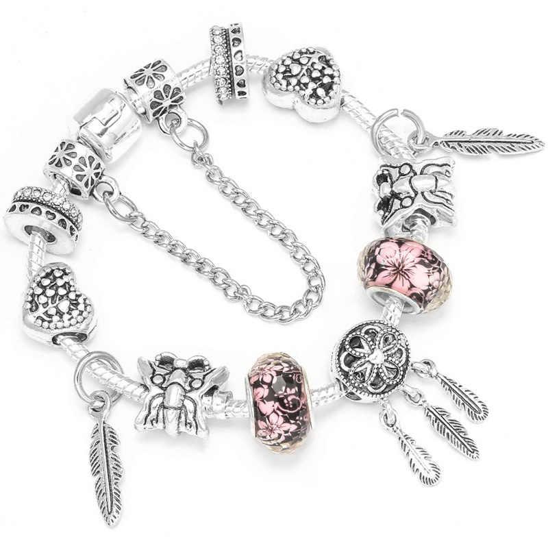 2fc9e379c ... CHIELOYS Cute Cartoon Charm Bracelets With Enamel Mice Beads Fits  European Original Pandora Bracelet For Children