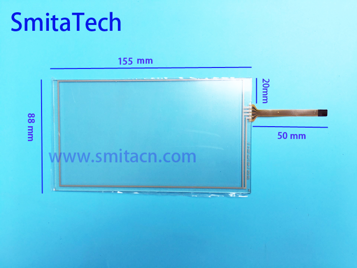 6.2 inch 4 wire resistive touch screen 730-DZ6 for lcd HSD062IDW1 -A00, A01 ,A02 car DVD navigation screen 155*88 155mm * 88mm amt 146 115 4 wire resistive touch screen ito 6 4 touch 4 line board touch glass amt9525 wide temperature touch screen