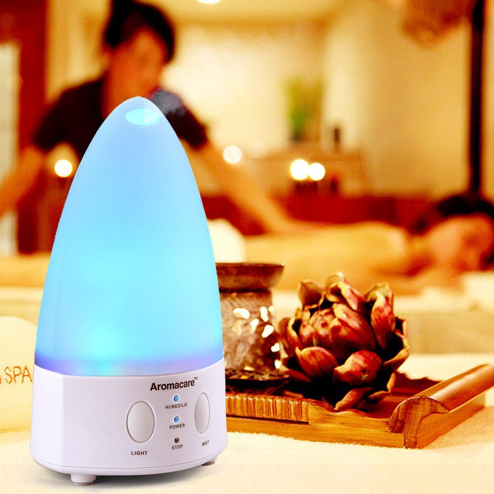Aromacare Humidifier Mini Olie Diffuser Farverig Lys Lamp Diffuser - Husholdningsapparater - Foto 2
