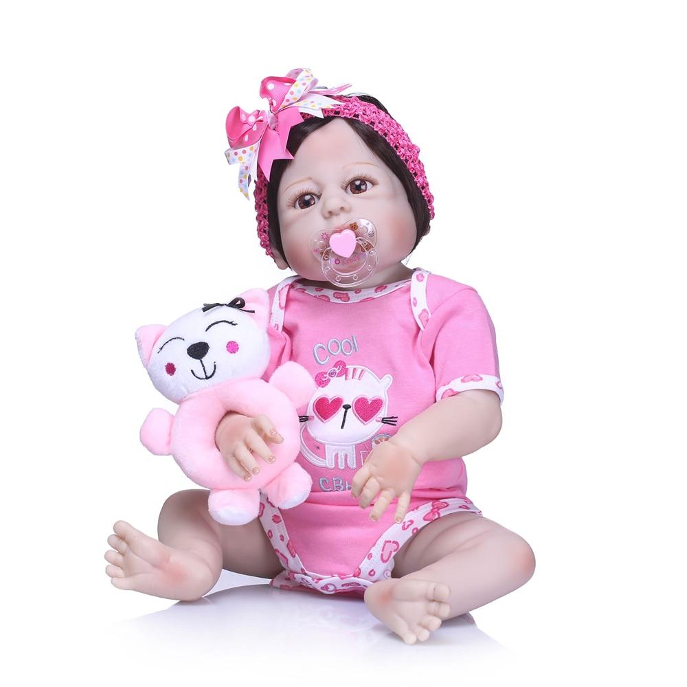 NPK 23Inch Realistic Reborn Baby GIRL Doll Lifelike Baby Toy FULL BODY SILICONE Doll Reborn Dolls Silicon Doll bebe Born ToysNPK 23Inch Realistic Reborn Baby GIRL Doll Lifelike Baby Toy FULL BODY SILICONE Doll Reborn Dolls Silicon Doll bebe Born Toys