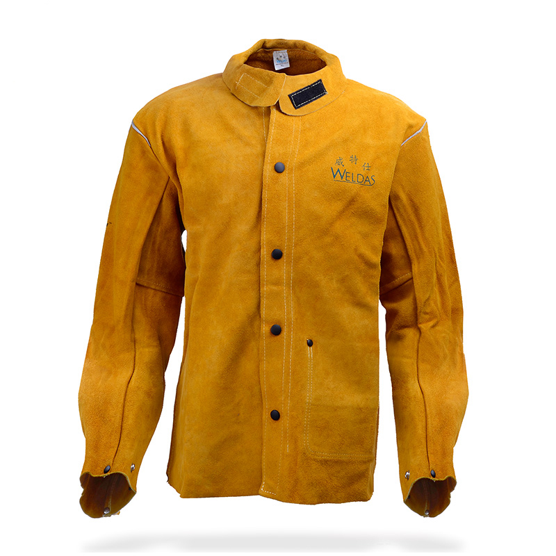 Leather Welding Aprons Welding Flame Retardant Clothing Cow Split Leather Welding Jackets