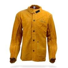 leather welding aprons flame retardant clothing cow split jackets