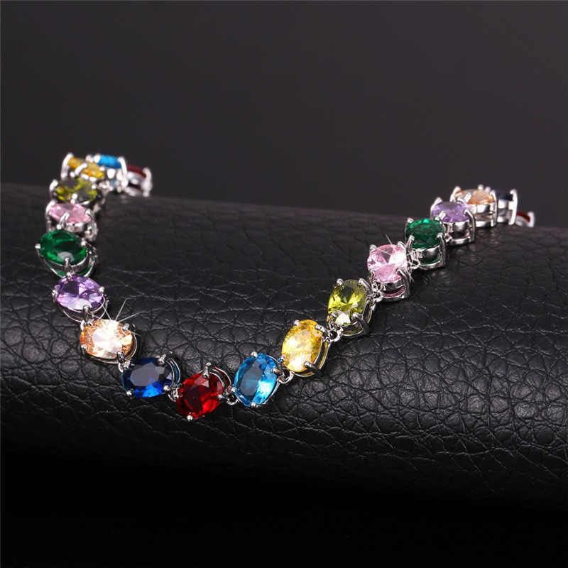 Роскошные AAA цирконий браслет 2015 новый модный циркон ювелирные изделия платиновым покрытием белое золото браслеты для женщин подарок H702