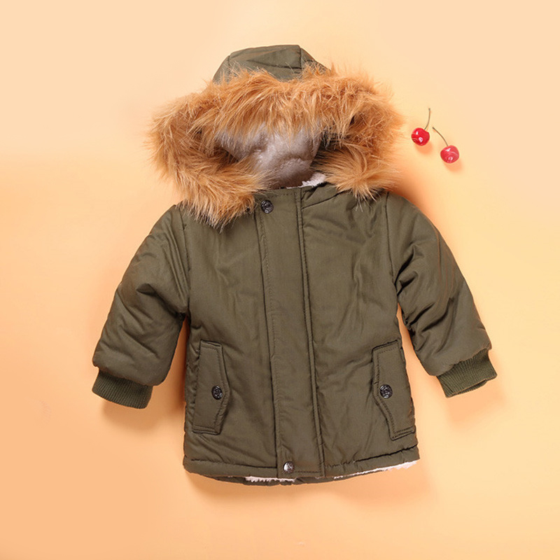 Boy Coat Jacket Bebe Baby-Girl Winter Clothing Outerwear Hooded Warm Fashion Children