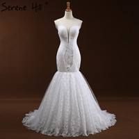 Fashion CUT OUT Sexy Mermaid Tulle Wedding Dresses White Sleeveless Appliques Bridal Gown Vestido De Noiva