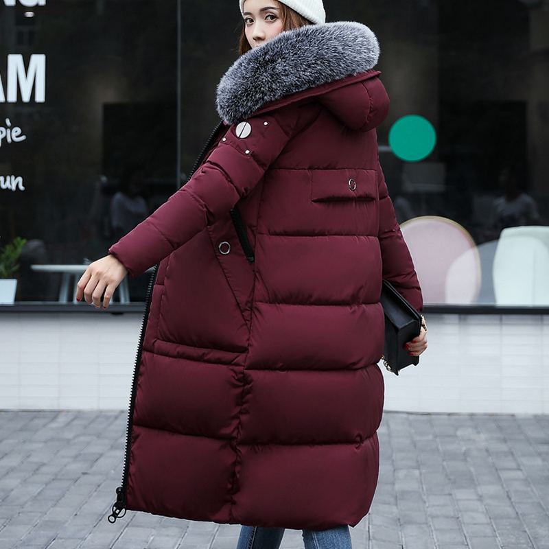 New 2017 Winter Jacket Coat Women Coat Thick Parkas Female Warm Overcoat Collar High Quality Bomber Jacket Fur Collar 4 Colour women winter coat jacket warm woman parkas big fur collar female overcoat high quality thick cotton coat 2017 new winter parka
