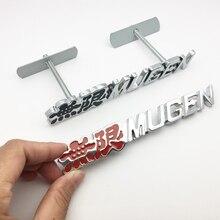 цена на High quality 3D Chrome Metal Mugen car sticker Emblem Logo Rear Badge Car Trunk Sticker Decals Car Styling Auto Accessories