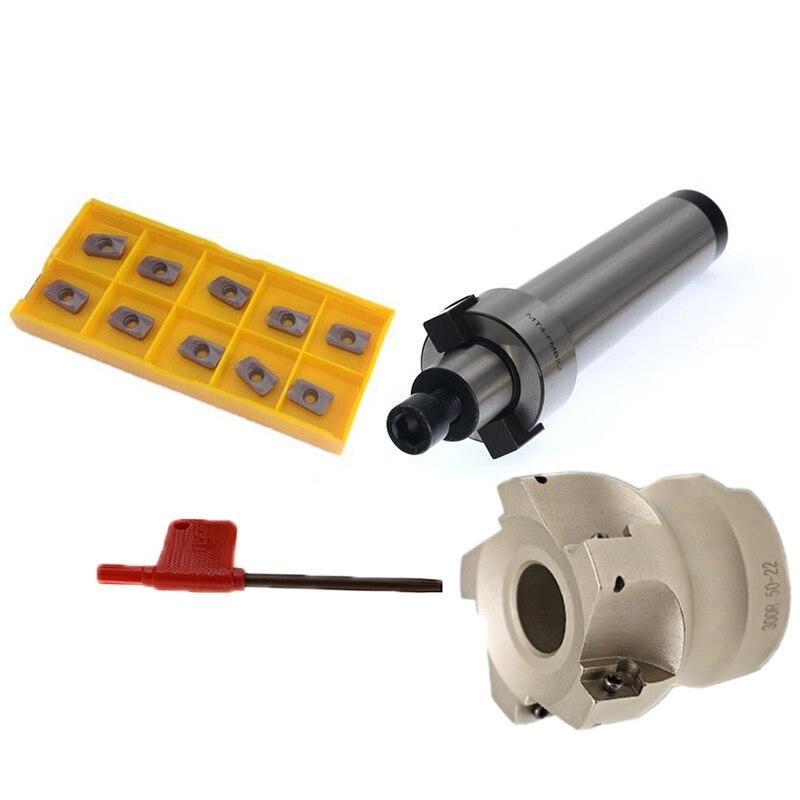 MT4 FMB22 M16 MT3 FMB22 M12 MT2 FMB22 M10+BAP300R 50-22-5T Combi Shell Mill Arbor Morse Taper Tool Holder CNC Milling Machine