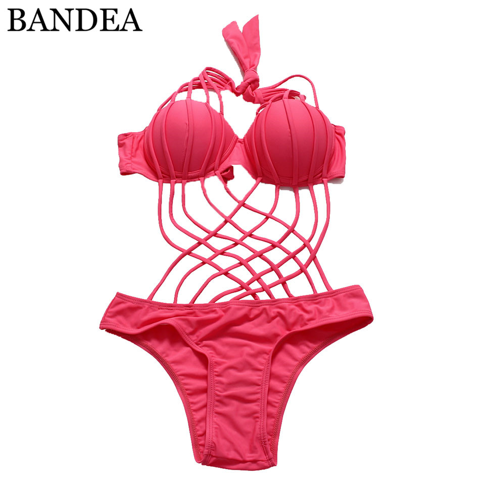 BANDEA monokini cross one piece swimsuit for women push up swimwear halter stappy beach wear bathing suit swimming sexy plus size swimwear one piece swimsuit women backless monokini trikini halter push up bathing suit beach wear bathing wear