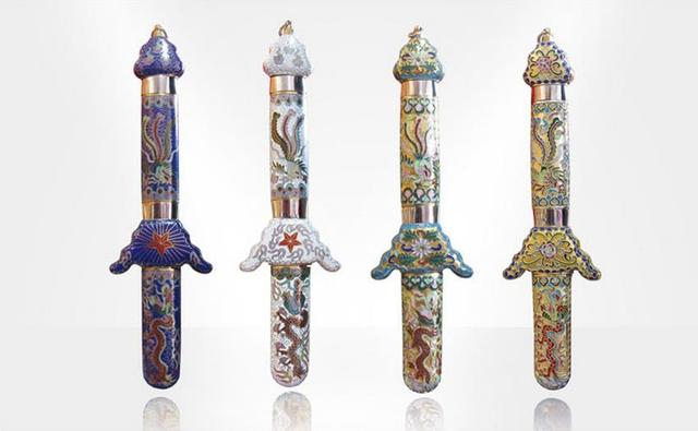 268a29b75 Cloisonne Retractable Tai Chi Swords Tai Chi Straight Sword Artwork Taiji  Jian