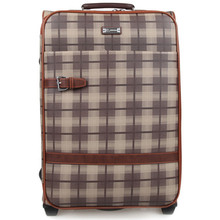 BOLO BRAVE 20 24 Inch Luxury Designer Man PU Leather lattice Suitcase Bag Rolling Travel Luggage Wheels Board Chassis Men's Bags