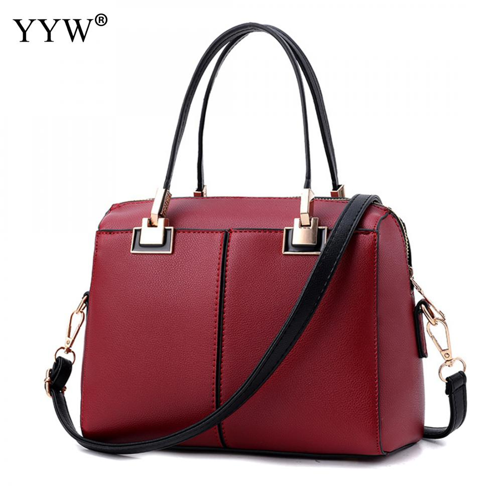 Luxury Women's PU Leather Handbags Business Tote Bag for Women New Top-Handle Bags Famous Brands Black Lady's Crossbody Bag
