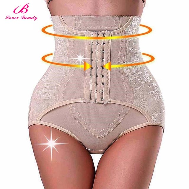 aee0512700 Lover Beauty High Waist Trainer Tummy Control Panties Butt Lifter Body  Shaper Corsets Hip Abdomen Shapewear Panty Hooks A