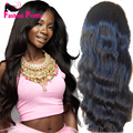 Virgin Peruvian Hair Lace Front Wig 150% Density Body Wave Wig With Baby Hair Glueless Full Lace Human Hair Wig Free Part